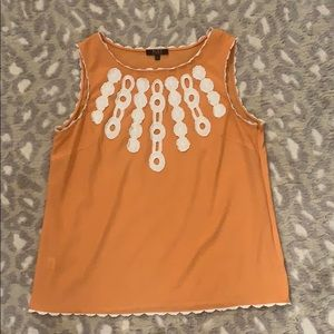 Alex Marie Orange and white embroidered top